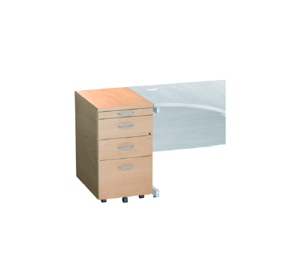 Desk High Pedestal