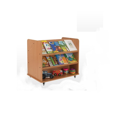 Double Sided Book Trolley