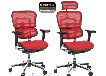 Ergohuman Chair Red