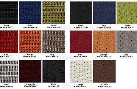 Ergohuman Fabrics